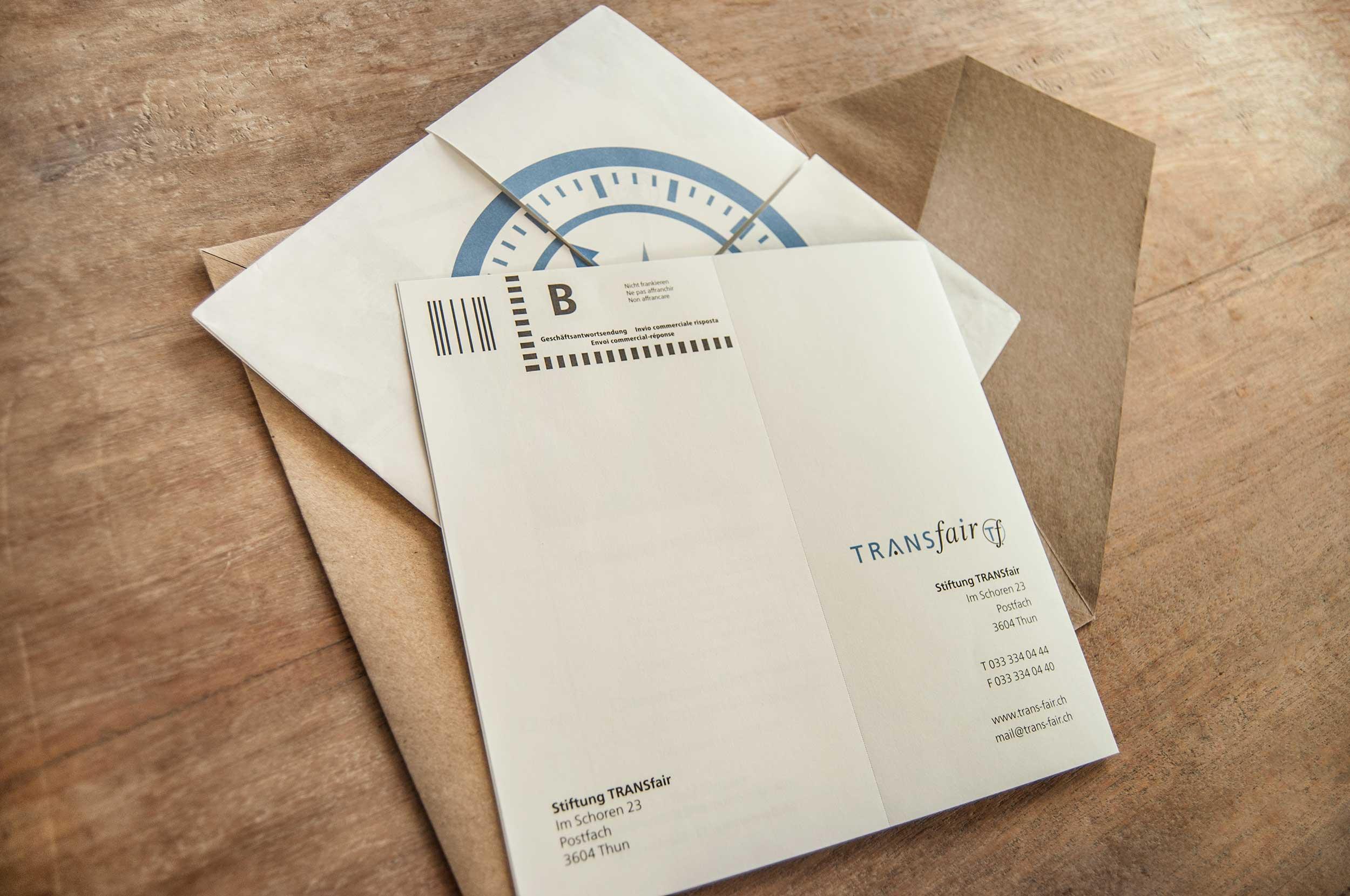 Foundation TRANSfair invitation card GPU Desiagn