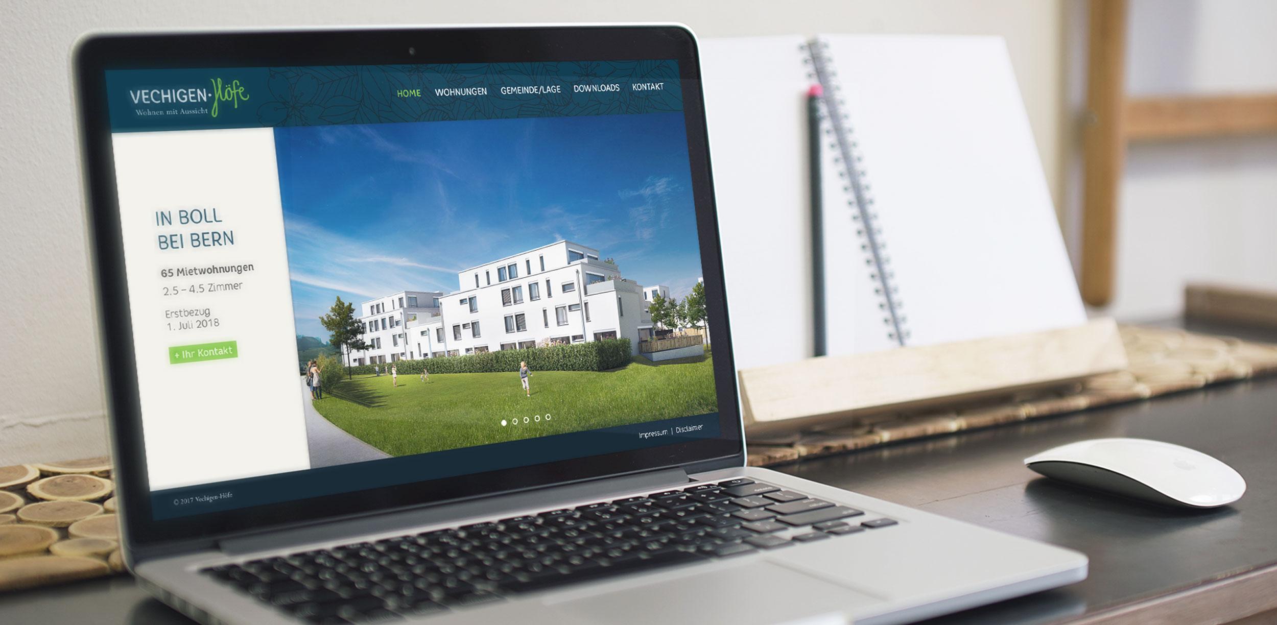 Vechigen Höfe website GPU Design