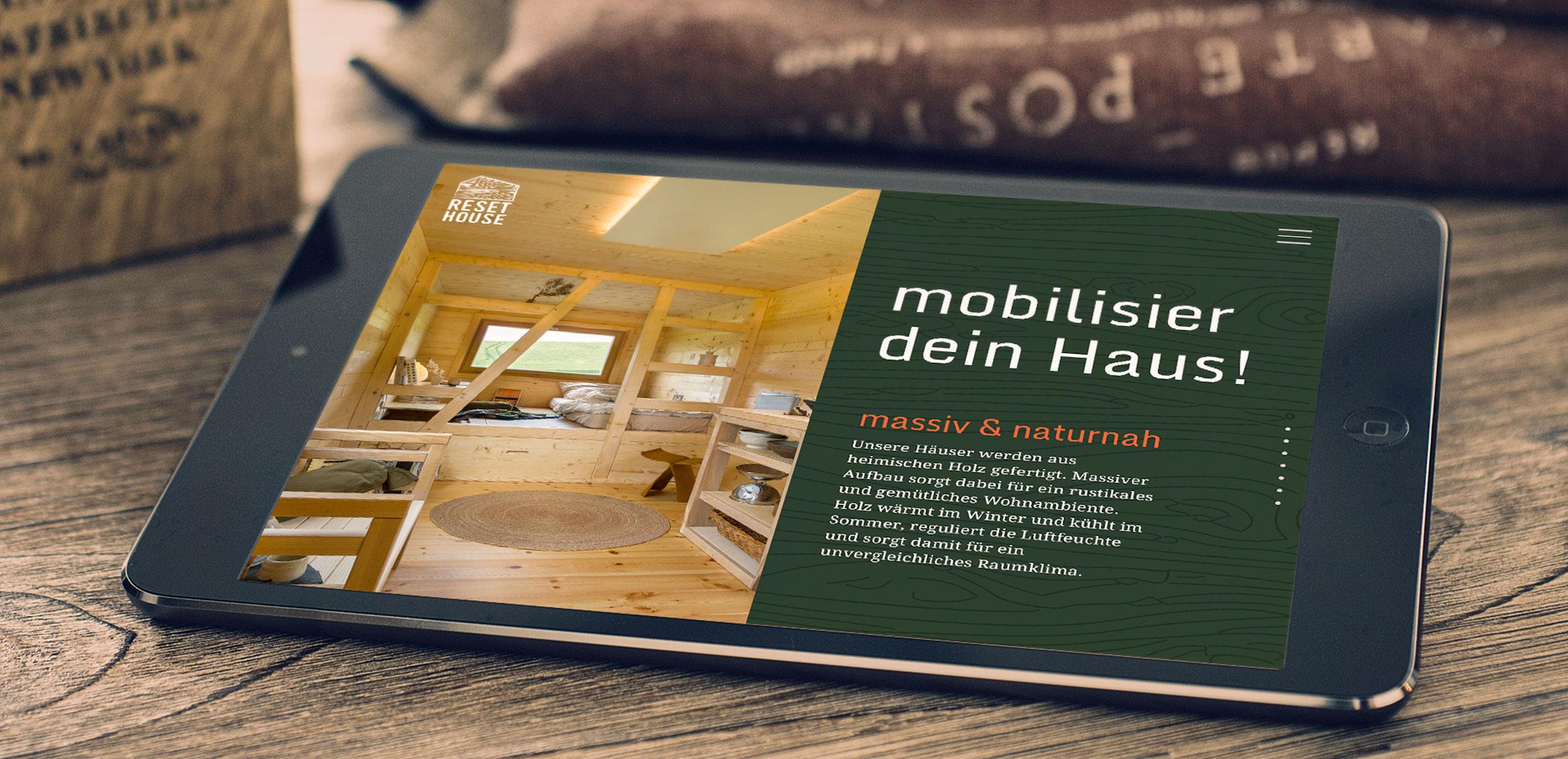 Reset House Website by GPU Design