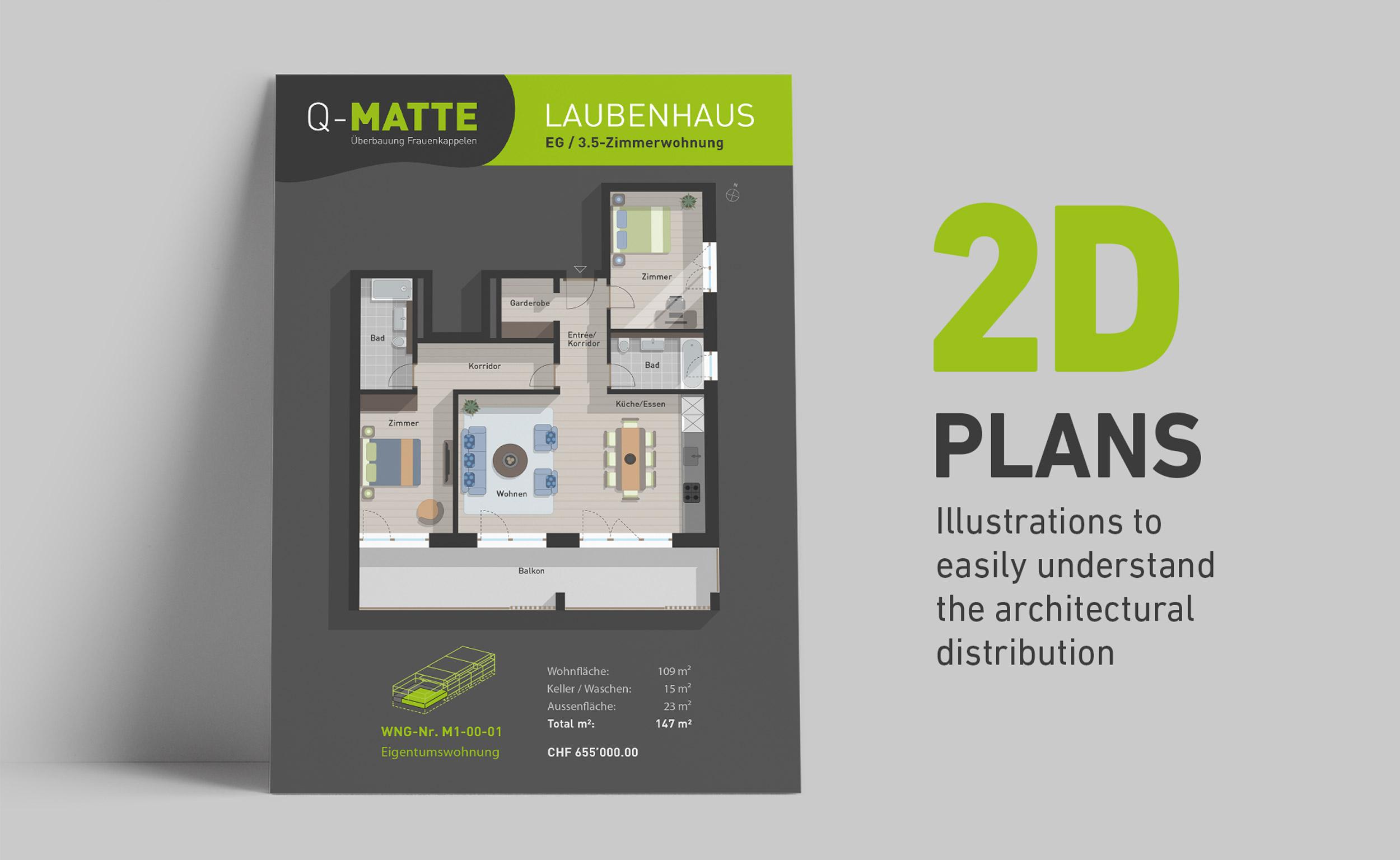 Q-Matte 2D plans by GPU Design