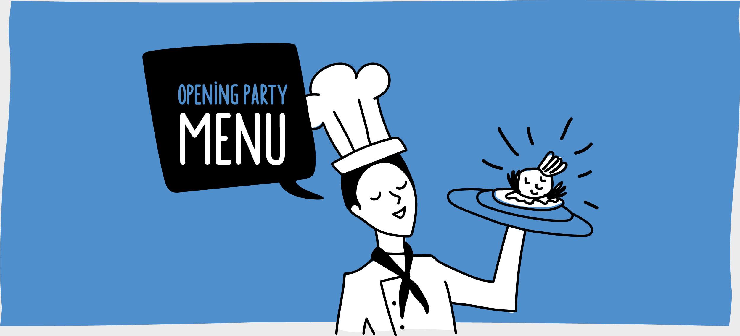 TRANSfair opening party menu by GPU Design