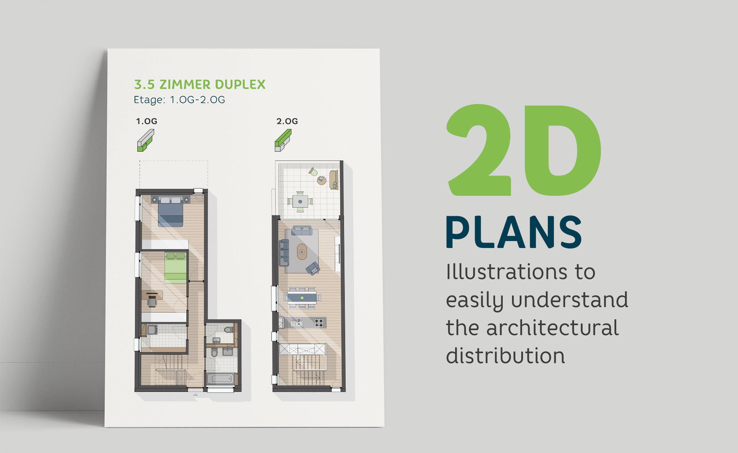 Vechigen Höfe 2D plans by GPU Design