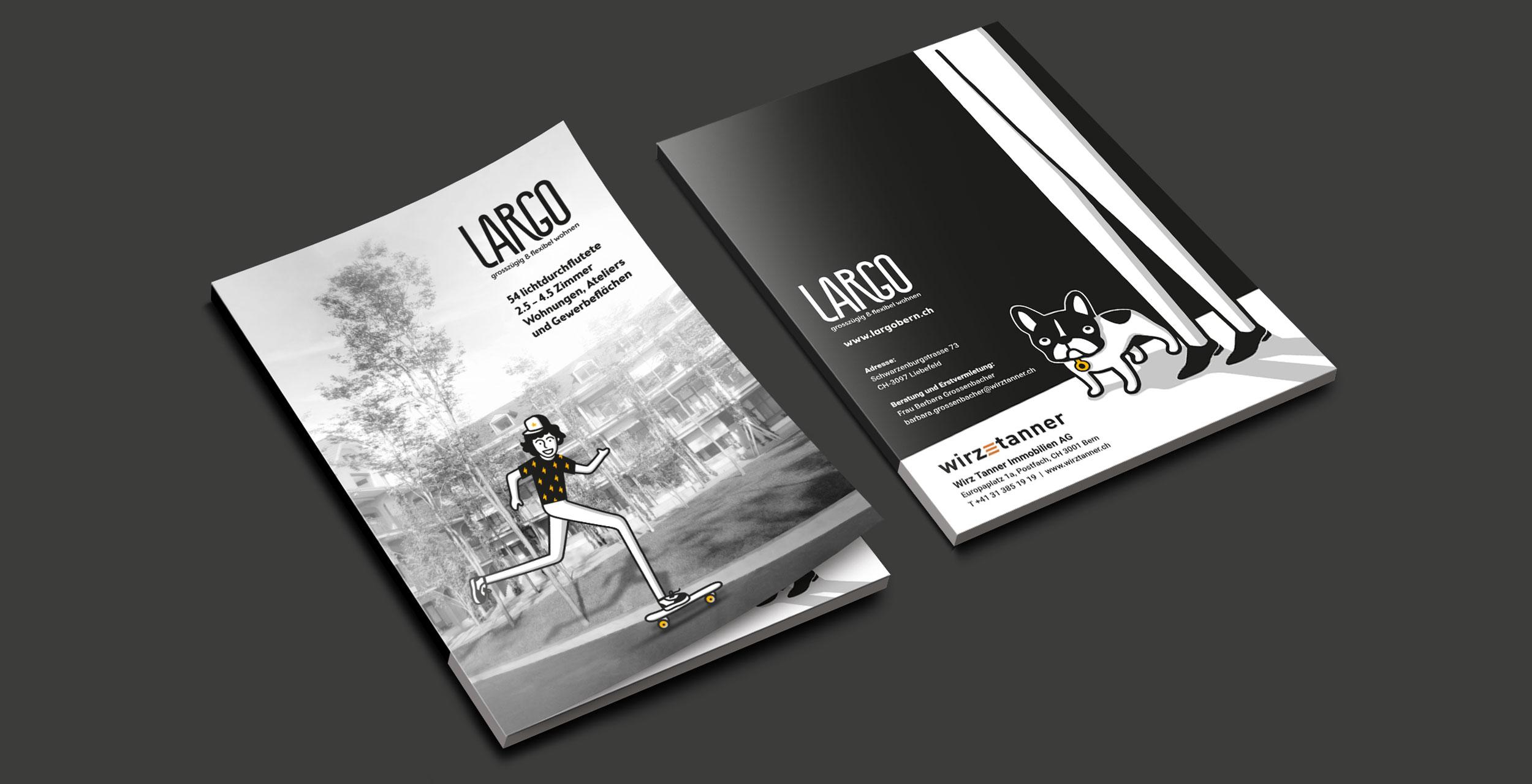 LARGO informative folder by GPU Design