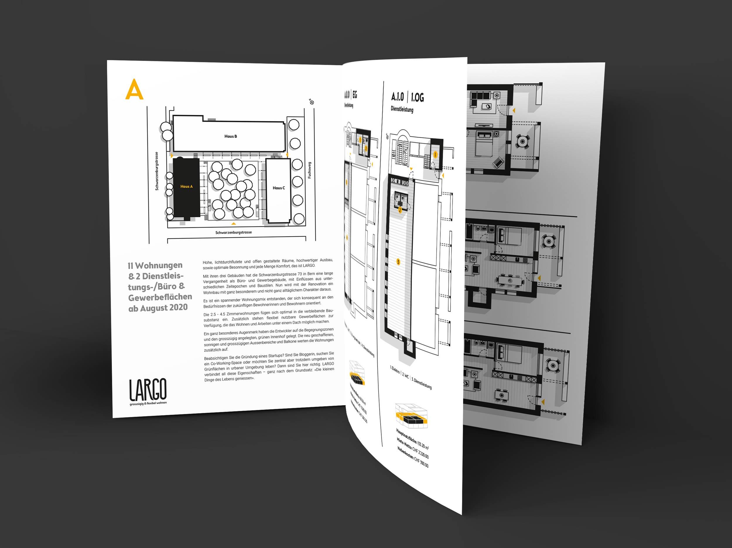LARGO brochure open by GPU Design
