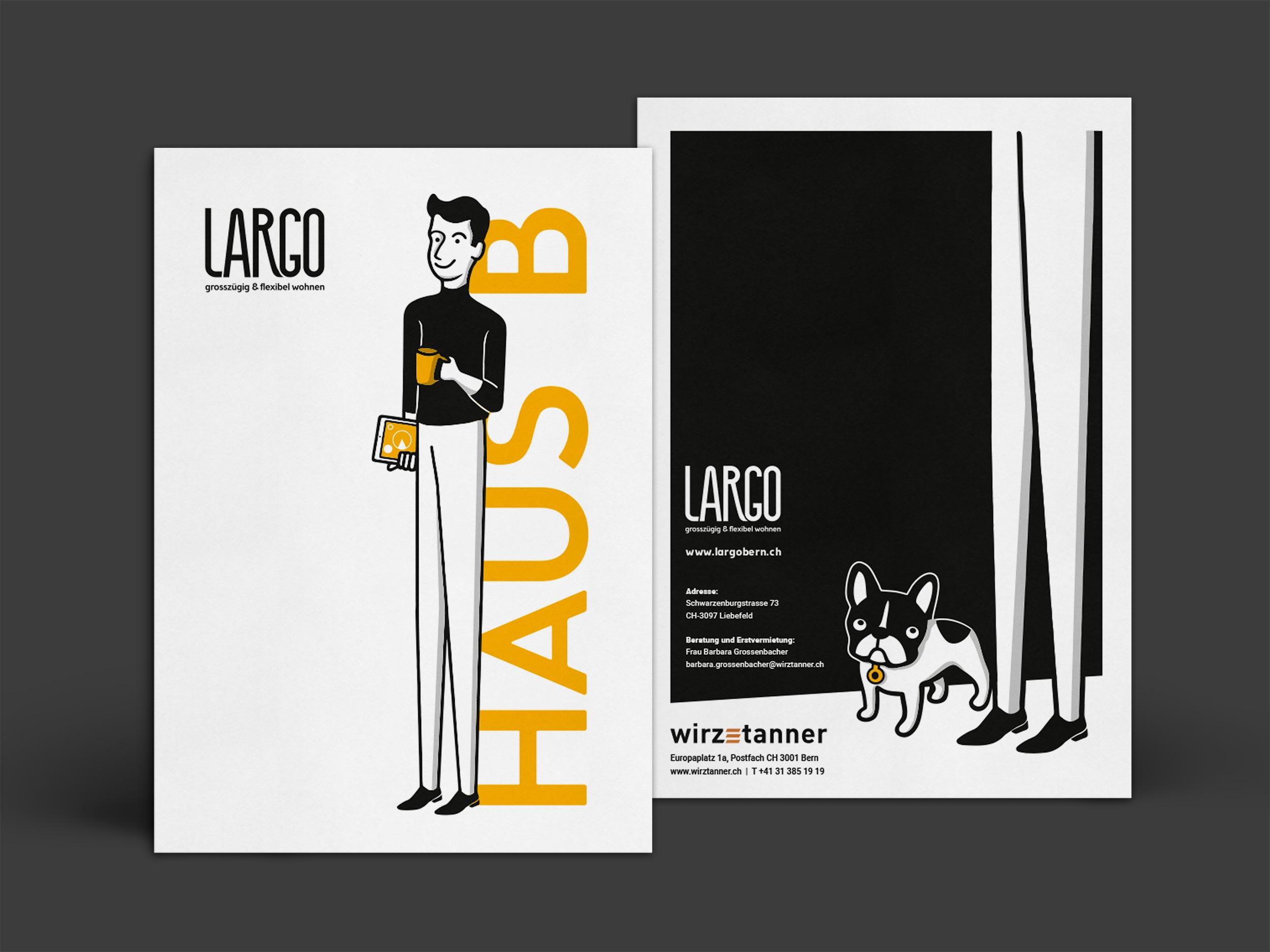 LARGO brochure cover by GPU Design
